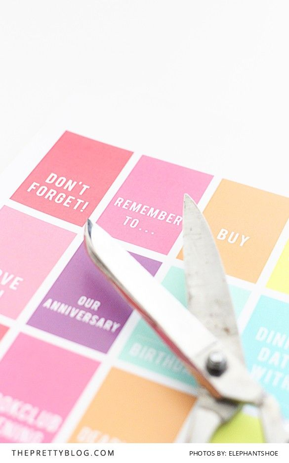 The Pretty Blog: Decorate your Diary DIY {free printables, registration required}
