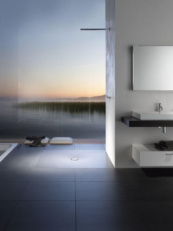 Flush fitting square enamelled steel shower tray BETTEFLOOR | Square shower tray - Bette
