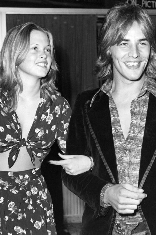 A very young Melanie Griffith and Don Johnson somewhere in the 1970s.