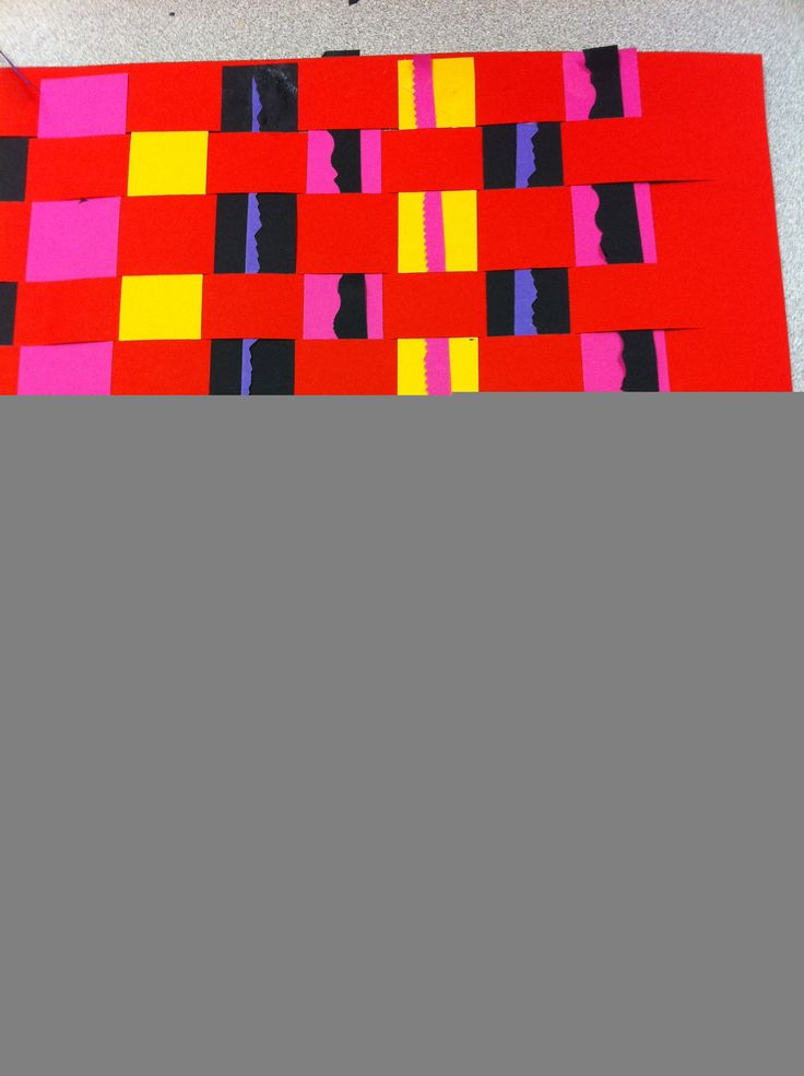 2nd grade: a great idea to add interest to paper weaving