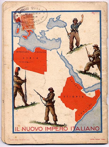 "Propaganda colonialista. Quaderno ""Il nuovo impero italiano""  (Colonialist propaganda. Book ""The new Italian Empire"")"