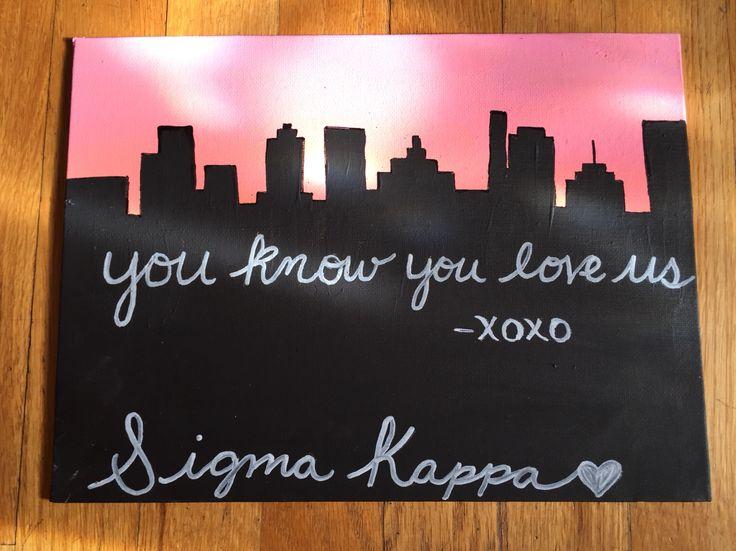 Sigma Kappa canvas gossip girl! SK crafts. Sorority canvas