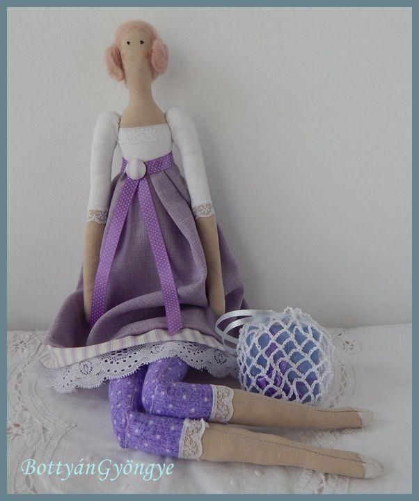 Tilda jellegű baba - Lilla - Tilda doll - Lilla