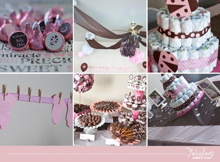 pink brown ladybug baby shower decorations wwwfacebookcomfabulouseventsandphotos - Ladybug Baby Shower Decorations
