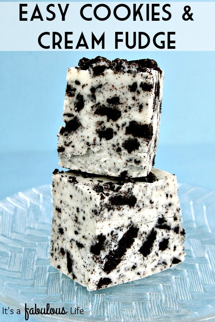 This was soooo amazing!! Easy Cookies And Cream Fudge Recipe - It's A Fabulous Life
