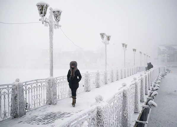 OYMYAKON, RUSSIA   Officially the coldest city in the world, this Russian outpost will see a low of -53 degrees tomorrow night!