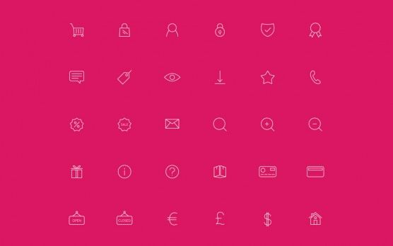 eCommerce Line Icons | Pixel Zombies