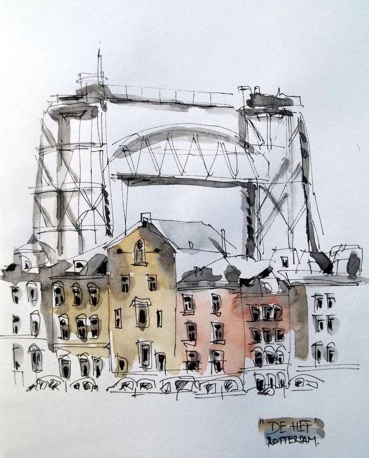 """De Hef""-Bridge, Rotterdam"