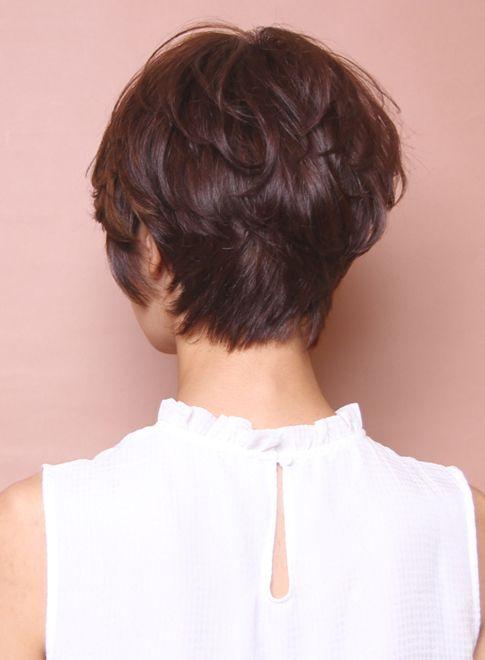 大人のシンプルエアリーショート(髪型ショートヘア)