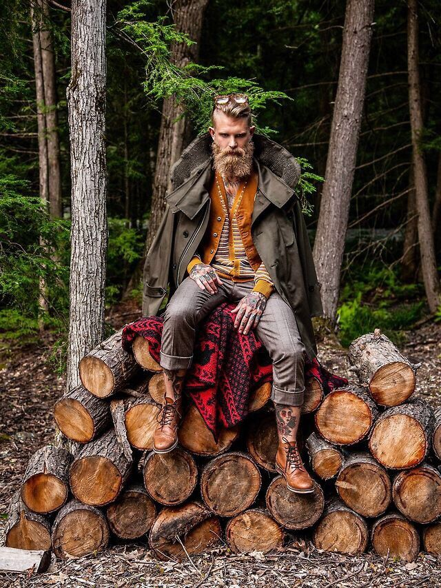 """Contemporary Lumberjack"", an Editorial. Photographer & Model Undisclosed. ( Iron & Wind Instagram: KEVTHUR )"