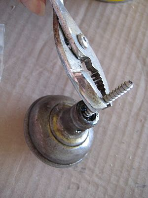 How to turn old door knobs into hooks for the wall!