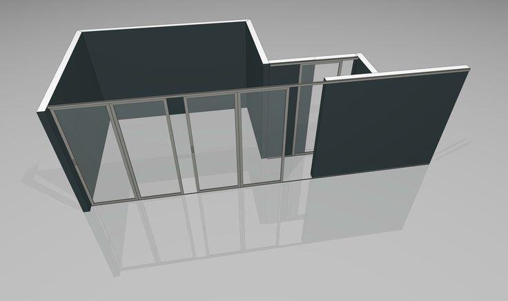 3d planung f r einen raumteiler im schlafzimmer hier wurde die raumteilung f r einen begehbaren. Black Bedroom Furniture Sets. Home Design Ideas