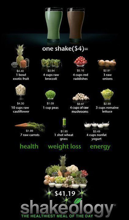 Seriously the BEST meal replacement shake I have ever had. I was getting it way before becoming a coach, and now I get it 25% off! if you are interested click and find out more info http://www.myshakeology.com/kayleeJmitchell