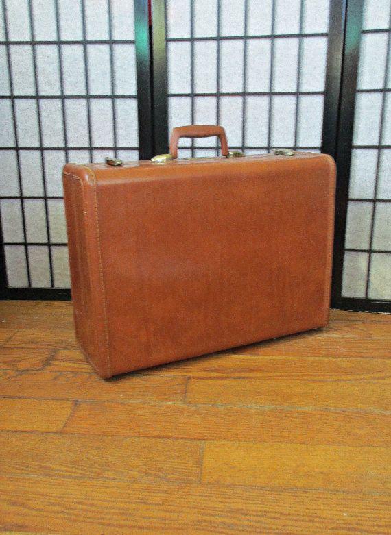 Vintage 1950s 1960s Samsonite Large Suitcase Train by girlgal6