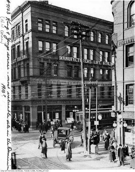 1910 King and Yonge, Toronto, Ontario.