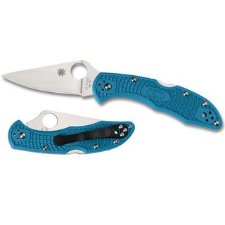 Spyderco Delica 4 Lightweight Blue Flat Ground-Plain Blade