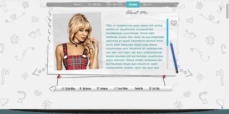 Do Do MyFreeCams profile design