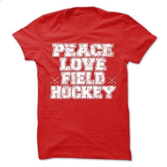 Peace Love Field Hockey Mens T-Shirt - #funny graphic tees #custom t shirt design. PURCHASE NOW => https://www.sunfrog.com/Sports/Peace-Love-Field-Hockey-Mens-T-Shirt.html?60505
