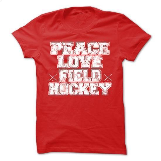 Peace Love Field Hockey Mens T-Shirt - #funny graphic tees #custom t shirt design. PURCHASE NOW => https://www.sunfrog.com/Sports/Peace-Love-Field-Hockey-Mens-T-Shirt.html?60505