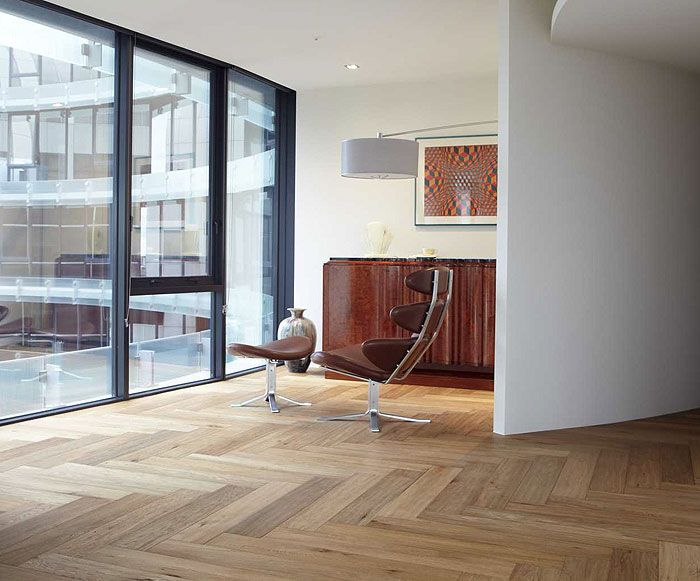 American Oak in Smoked Herringbone