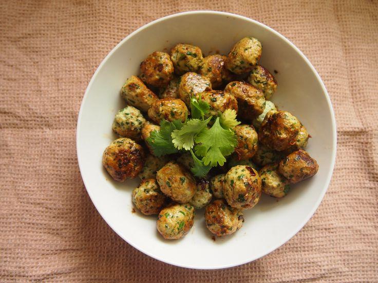 Spinach & Chicken Thai Meatballs (Gluten & Egg Free)