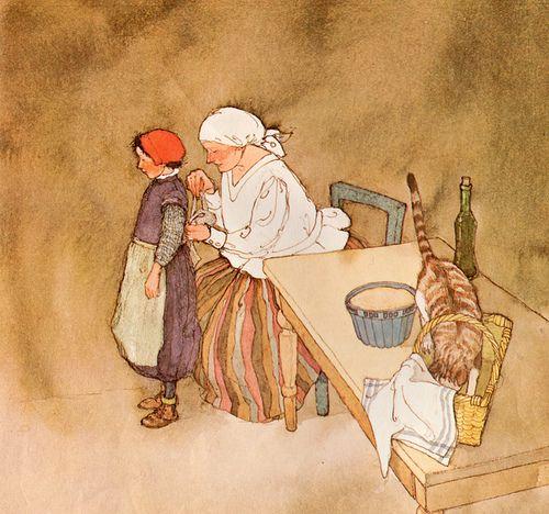 Lisbeth Zwerger, The Little Red Cap #1