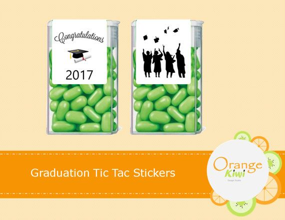 Graduation Tic Tac Labels Graduation Tic Tac Stickers Grad