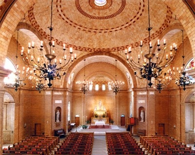 Interior Of St Mary Catholic Church In Wilmington NC