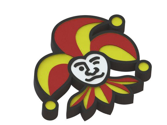 Jokerit ice hockey team logo model. #KHL #logo #3Dmodel #Jokerit #icehockey
