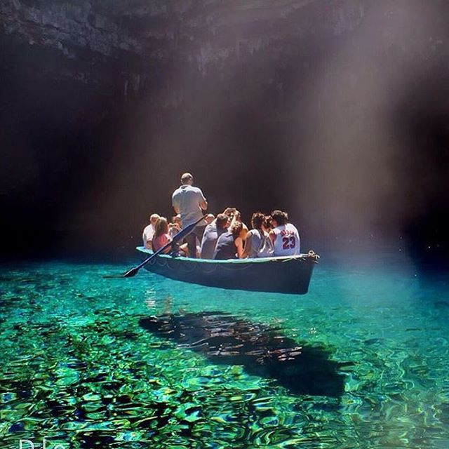Melissani Cave, Greece ⛵️ #BucketListVacations  : @diokaminaris                                                                                                                                                                                 More