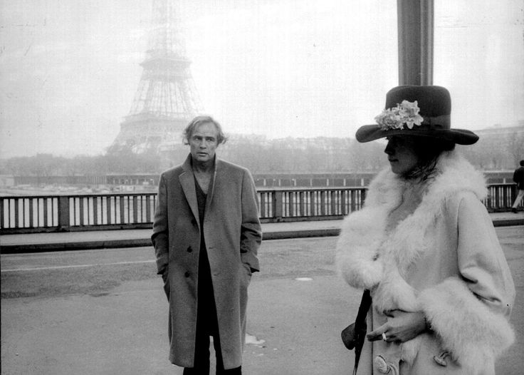 """Marlon Brando and Maria Schneider in """"Last Tango In Paris """" 1972"""