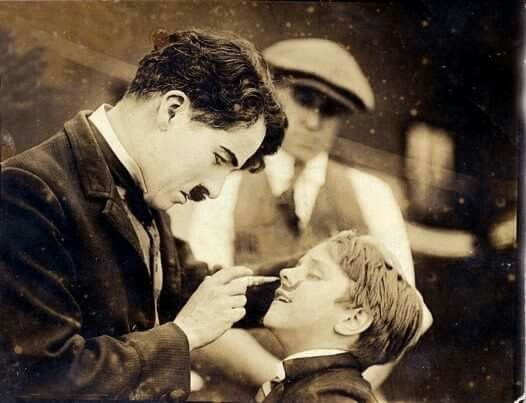 Charlie Chaplin and Douglas Fairbanks jr.