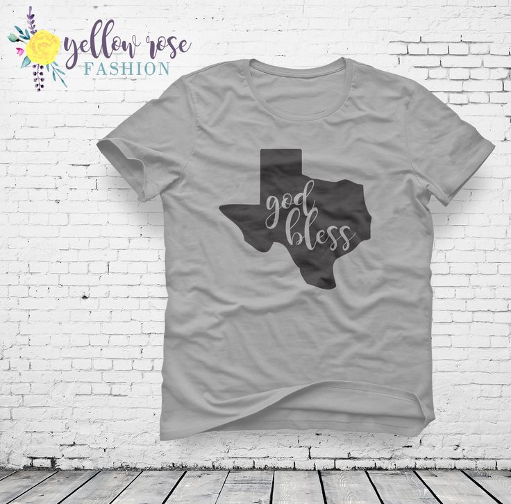 Lone Star State Shirt - God Bless Texas Women's Fashion Tee in White and Gray