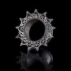 HARAMARA Silber Ohr Tunnel - 4mm - 30mm, Tunnel/Plugs, 92,5 Sterling-Silber, Tribal Jewelry, Gauge-Schmuck, Flesh Tunnel, (Code 2)