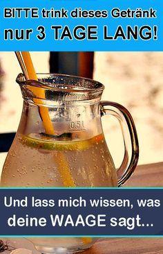 Nimm dieses Getränk 3 Tage lang zu dir. Das Ergebnis auf der Waage wird dich ü
