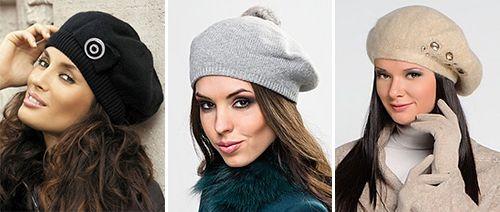 Модные головные уборы осень-зима 2015: вязаные, меховые шапки, береты