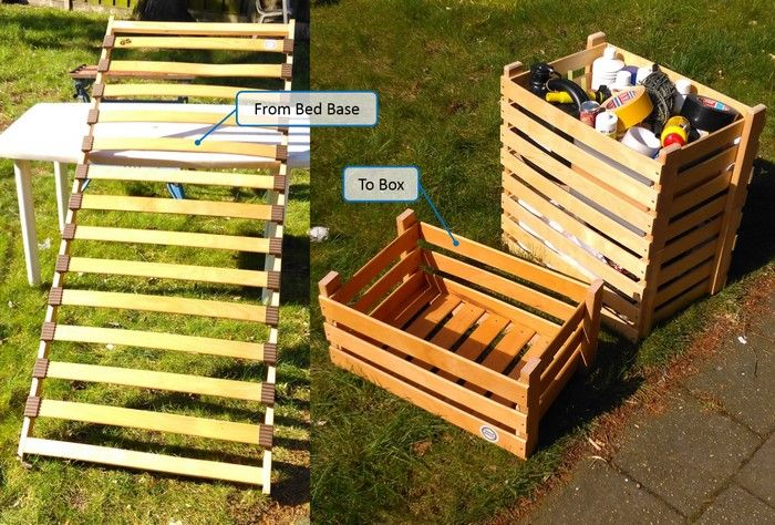 How to turn an old bed base into boxes | DIY projects for everyone!