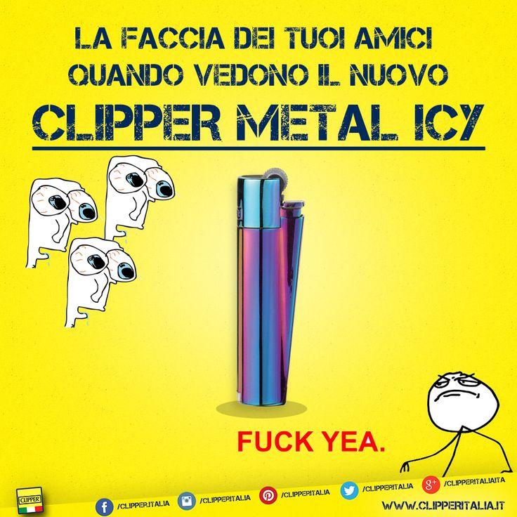 Clipper Metal Icy!  Ogni volta che i tuoi amici lo vedono...  #clipper #clipperitalia #itsaclipper #clipperlife #clippersonly #clipperlighters #clippercollection #clippers #clippermania #clipperworld #instaclipper #iloveclipper #clipperlovers #bestclipper #clipperloco