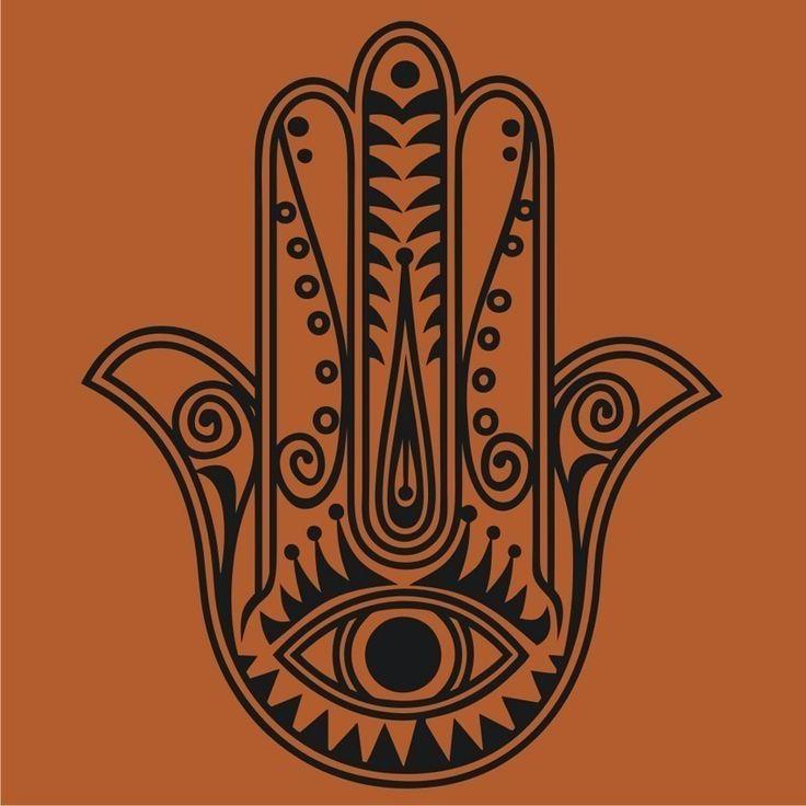 Hamsa Hand Outline | Hamsa (Mão de Fátima)