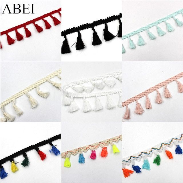 Bordure frange Tassel Trim Mutil couleur Fringe