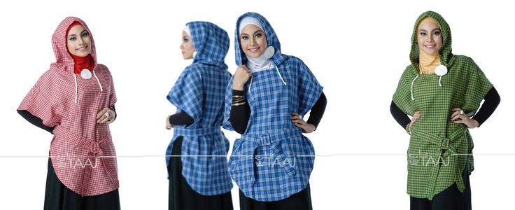 Jilbab Taaj Katun KL-PC Jilbab Taaj berbahan katun kotak-kotak dengan desain hoodie dan belt dipinggang dipadukan dengan inner warna senada dan dihiasi dengan pin cantik warna putih. jilbab ini ada...