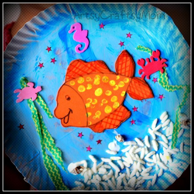Under the sea craft for toddlers preschool for Art and craft classes for kids