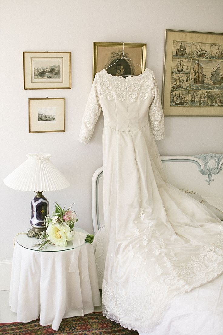 couture applique lace wedding dress shot at pension vestergade 44, denmark. by camilla jorvad
