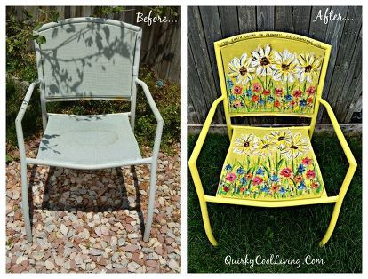 Photo of Painted Garden Chair Art