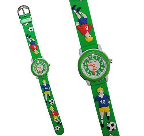 3-D Kinderuhr Fußball - Uhr Kinder Armbanduhr Silikon Jungen Fussball grün Ball bunt Sport Analog - http://besteckkaufen.com/unbekannt/3-d-kinderuhr-fussball-uhr-kinder-armbanduhr-ball