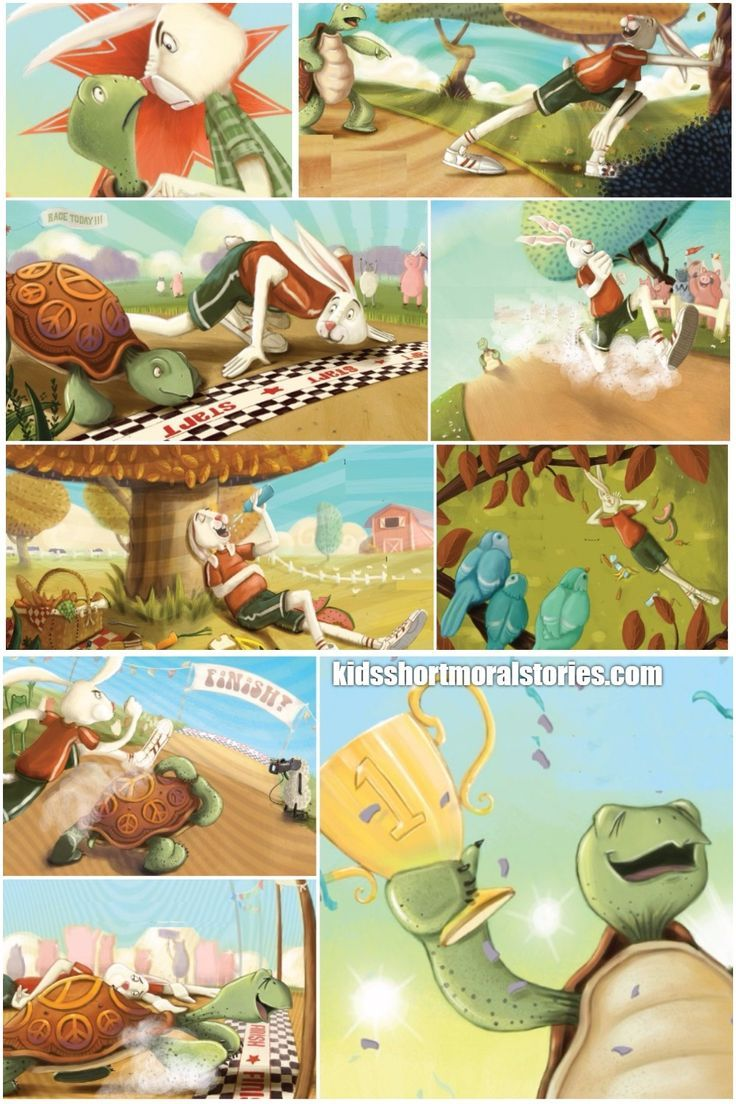 Hare And Tortoise Short Story With Pictures Picture Story For