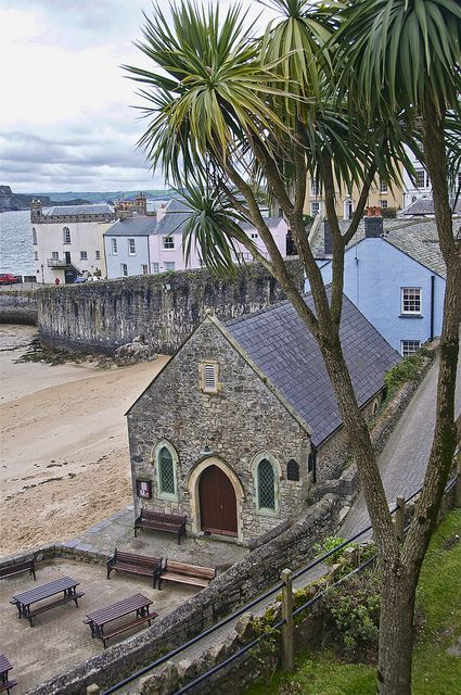 ~ St. Julian's church ~ the fishermen's church on the beach at Tenby Harbour ~ Wales ~