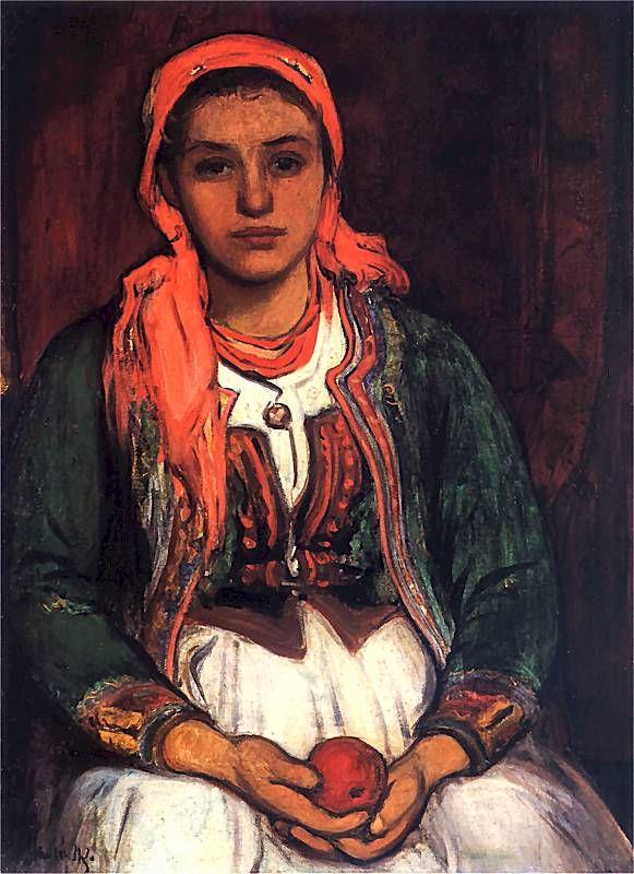 Władysław Ślewiński - Góralka z jabłkiem, 1907