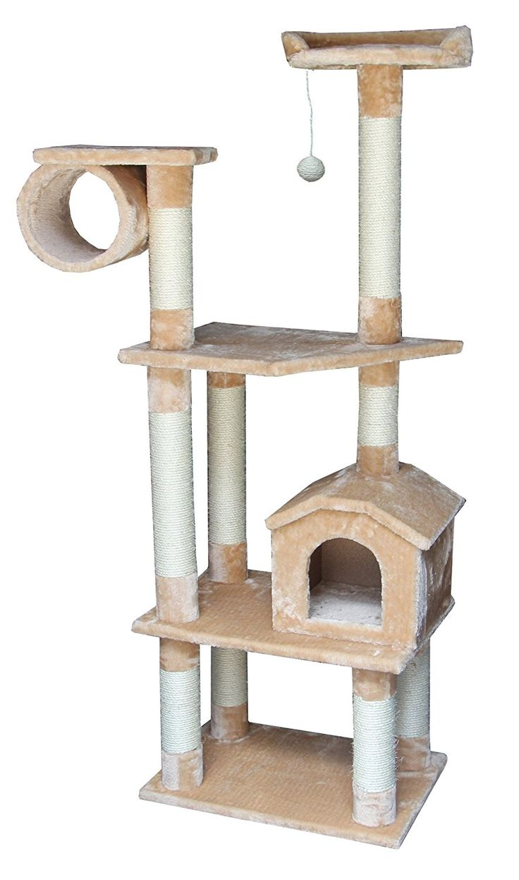 Kitty Mansions Baltimore Cat Tree, Beige *** Find out more details by clicking the image (This is an amazon affiliate link. I may earn commission from it)