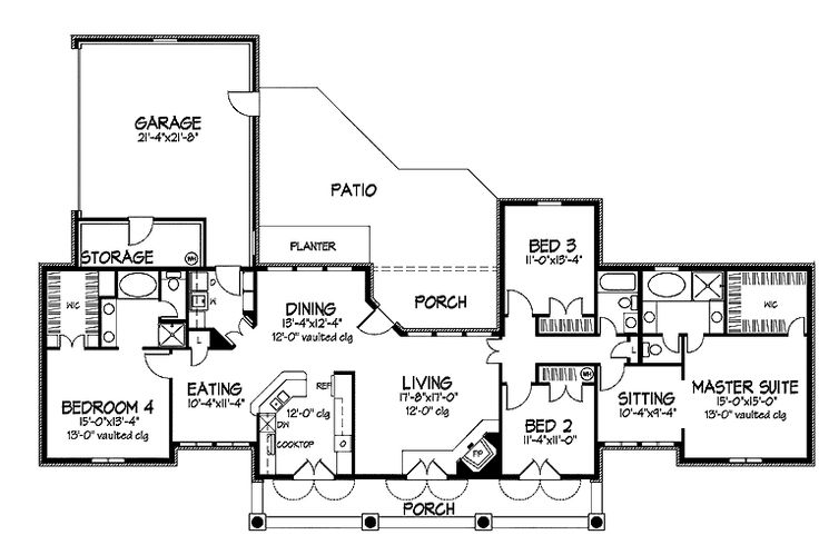 44 best images about dual master suites house plans on for One story house plans with two master suites